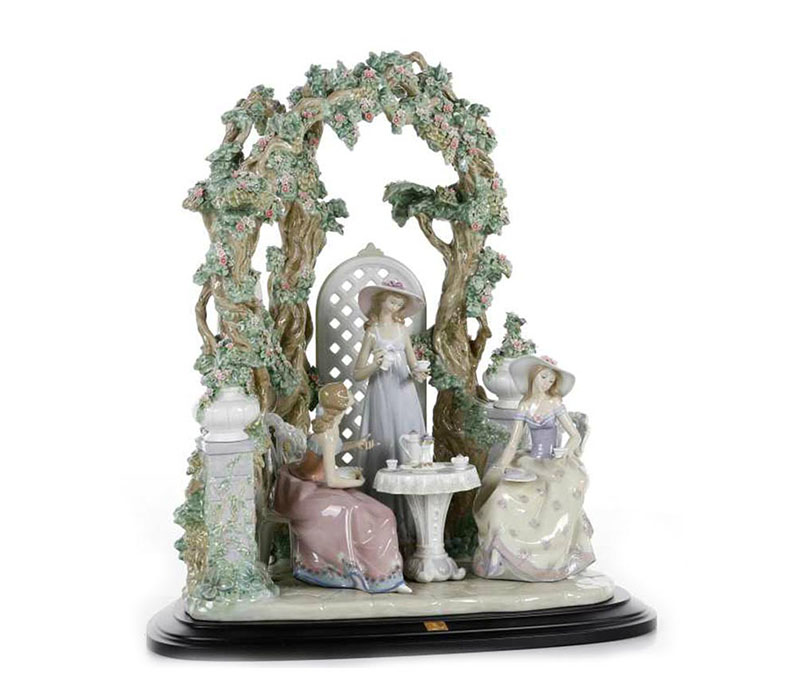 Tea in the garden Lladro Thailand by CrystalSymphony