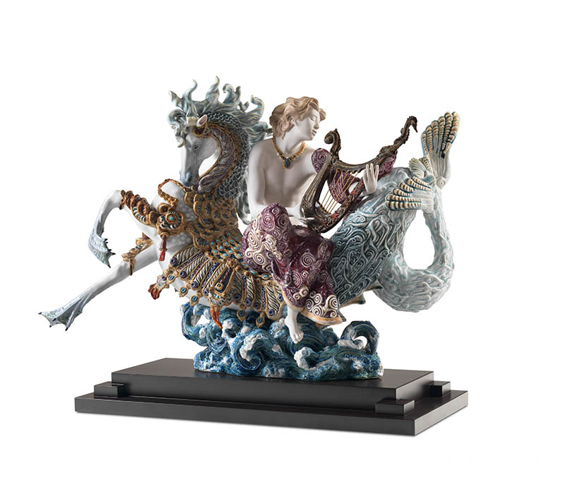 Arion on a seahorse sculpture by LLADRO