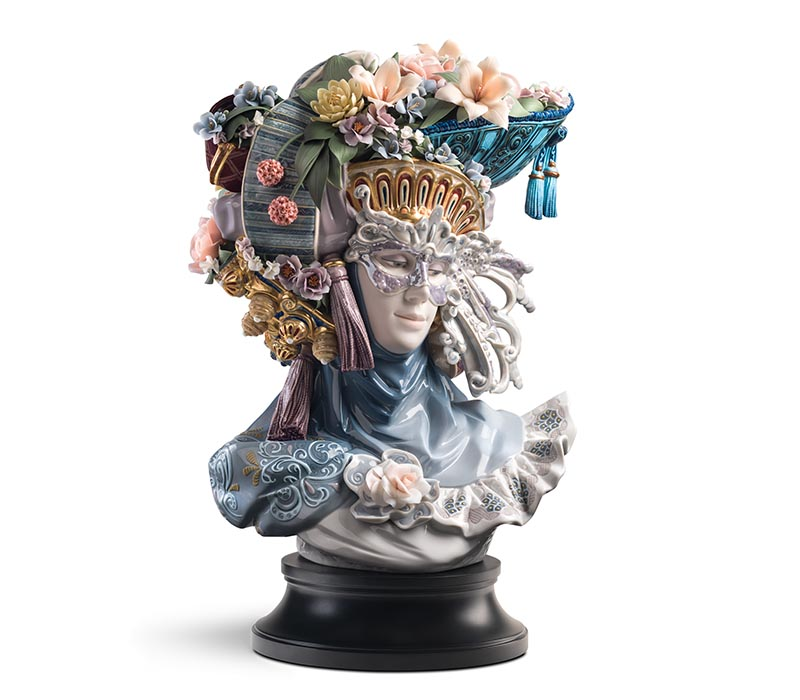 Venetian Fantasy Woman Sculpture by Lladro