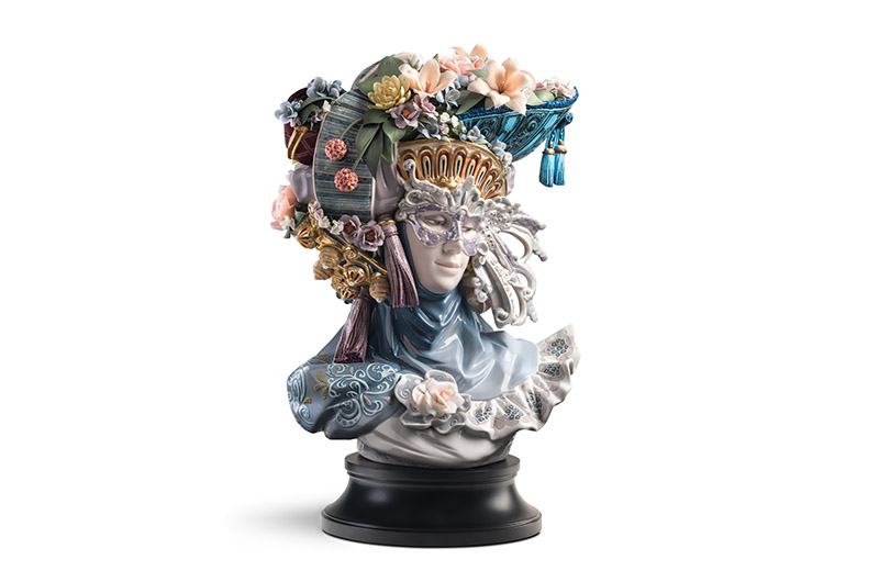 Venetian Fantasy Woman Sculpture