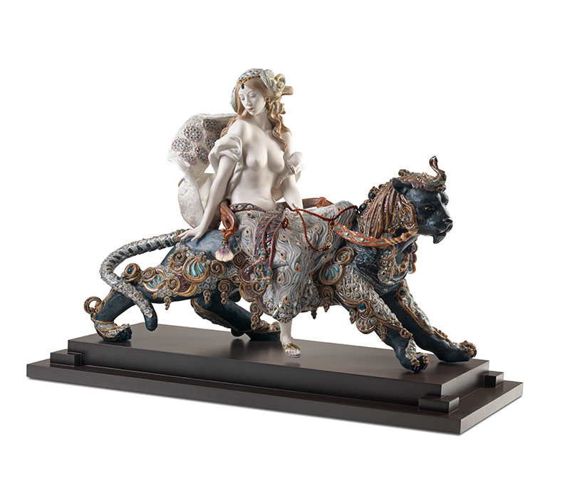 Bacchante on a panther Lladro Thailand by CrystalSymphony