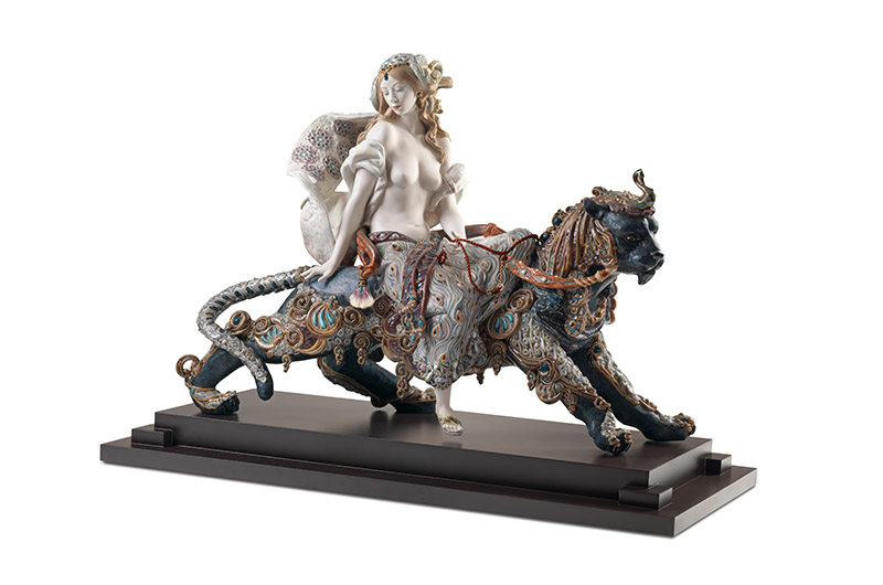 Bacchante on a panther by Lladro Thailand