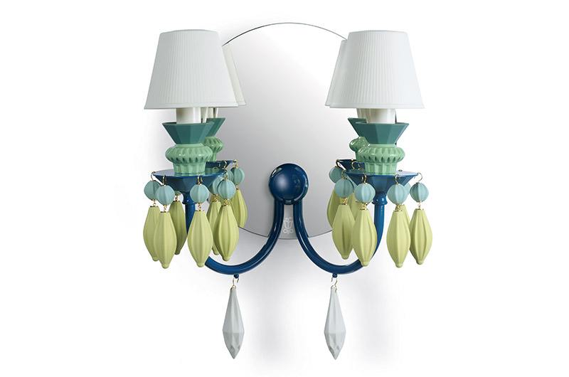 Belle de nuit 2lights wall scone2 by Lladro Thailand