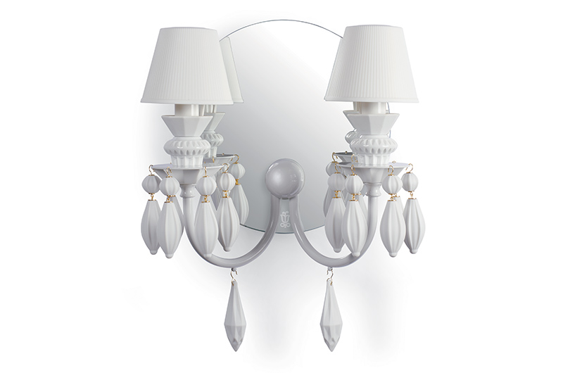Belle de nuit 2lights wall scone3 by Lladro Thailand