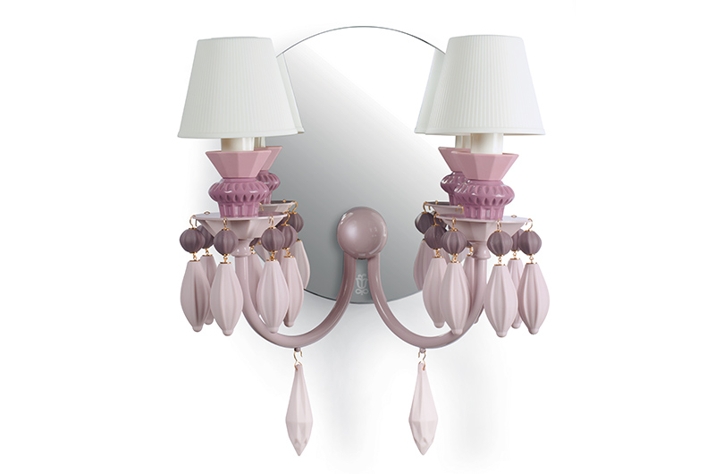 Belle de nuit 2lights wall scone4 by Lladro Thailand