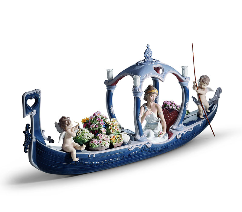 Gondola of love goddess Lladro Thailand by CrystalSymphony
