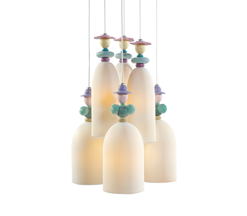 Mademoiselle 6 Lights Lladro Thailand by CrystalSymphony