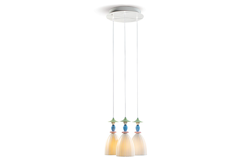 Mademoiselle Round Canopy 3 Lights by Lladro Thailand