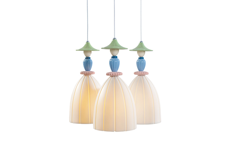 Mademoiselle Round Canopy 3 Lights2 by Lladro Thailand