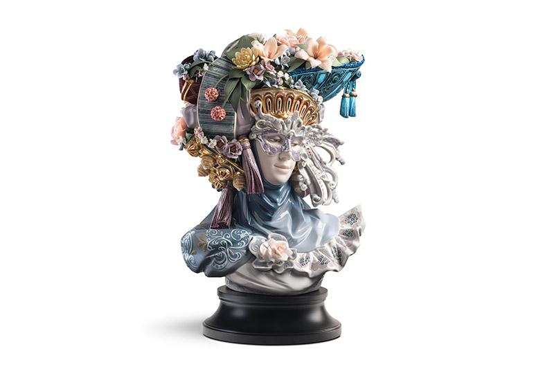 Venetian Fantasy Woman Sculpture