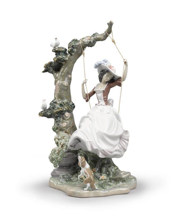 Swinging Woman Figurine