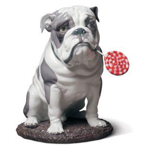 Bulldog with Lollipop Dog