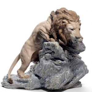 Lion Pouncing