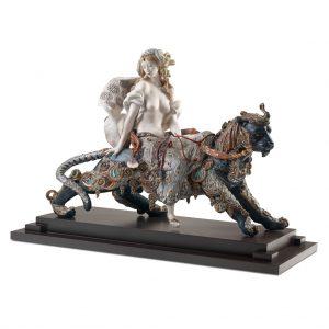 Bacchante on A Panther Woman Sculpture